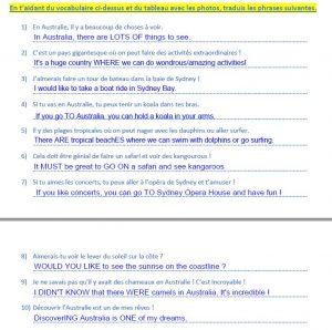 Step 1 - Correction traduction phrases 4eme